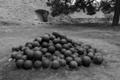 Cannon Balls (Crisp-13) Tags: rethymno fortezza crete black white monochrome old town castle