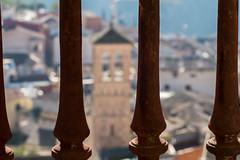Con vistas a la ciudad (JuanCarlossony) Tags: ciudad rejas torre campanario casas bokeh sony 70300mm slta58 a58