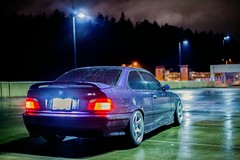 _MG_3490 (andreialta) Tags: bmw m3 night shoot e36 e36m3 technoviolet jdm advantc3 advanwheels yokohama yokohamawheels