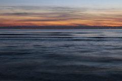 Abstract / Astrazione (A_Raven_) Tags: astratto abstract mare sea colors sunset tramonto clouds nuvole cielo longexposure waves onde tuscany toscana italy italia orange blue