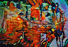 push... (Mark Noack) Tags: light color photoshop layer layering surreal expressionism abstract psychedelic futurist abstraction