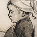 GAUGUIN,1886 - Jeune Bretonne assise (Quai Branly) - Detail 16