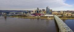 Bridge to Cincinnati (player_pleasure) Tags: cincinnati ohio skyline skyscraper bridge river ohioriver drone mavicpro mavicpro2 panorama hdr cityscape