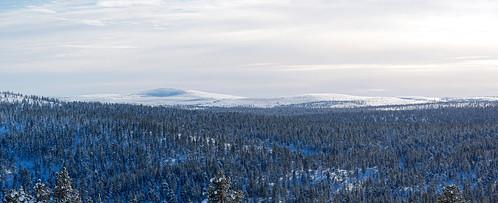 Morning panoramic view of Kilopää