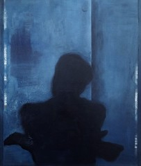 Sorry - Forgot My Shadow (Olle Gudbrand) Tags: painting oiloncanvas art ollegudbrand dreamy mystery dark figure silhouette shadow haunting forms oilpainting surreal