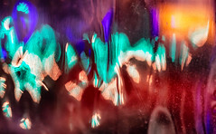 Diffusion Of Color (jaxxon) Tags: 2018 d610 nikond610 jaxxon jacksoncarson nikon nikkor lens nikon105mmf28gvrmicro nikkor105mmf28gvrmicro 105mmf28gvrmicro 105mmf28 105mm macro micro prime fixed pro abstract abstraction night lights ripple ripples distorted distortion reflection diffusion bokeh plastic surface warp warped urban light teal orange amber green blue dark