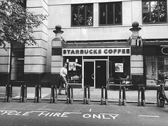 Bicycle hire only🚲🚲 (Janeprogram) Tags: starbucks blackandwhite bnwphotography uk
