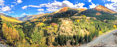 Autumn Colour at Red Mountains No.1 & No.2, Ironton, Million Dollar Highway, Colorado, USA (Black Diamond Images) Tags: redmountains no1 no2 ironton milliondollarhighway colorado usa redmountain redmountainnumber1 redmountainnumber2 ouray sanjuanskyway aspen forest aspens sanjuanmountains westerncolorado panorama westernusatrip2018 2018 sky mountain autumncolour autumncolor autumn fallcolour fallcolor mine red redmountainpass appleiphonex iphonex iphone tree wood landscape road mountainside field appleiphonexpanorama iphonexpanorama iphonepanorama hwy550 highway550