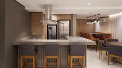 www.clubmobili.com.br (clubmobili) Tags: marina paulo arquitetura ambiente integrado espaço gourmet salão de festas banquetas cult cadeiras sephora donzela