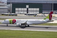 CS-TPT | Portugalia | Embraer ERJ-190LR (190-100LR) | CN 19000495 | Built 2011  | LIS/LPPT 01/05/2018 | ex PP-PJR | Operated on behalf of TAP Express (Mick Planespotter) Tags: aircraft airport 2018 nik sharpenerpro3 portela lisbon delgado humbertodelgado humberto erj190 cstpt portugalia embraer erj190lr 190100lr 19000495 2011 lis lppt 01052018 pppjr tap express