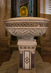 Baptismal font (Tigra K) Tags: palermo italy it 2018 church interior medieval mosaic museum object ornament religious repetition sicily art pattern byzantine romanesque