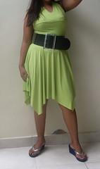 SDC12931 (ikat.bali) Tags: belt leather leder gürtel breitegürtel fashion fetish frau fotomodell sexy amateur lady girl dress kleid