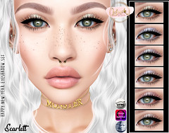 [LeLuck]Happy_New_Year Eyeshadowset Scarlett (Sunkora) Tags: secondlife catwa omega thedarkness event eyebrows set new meshhead leluck applier genus