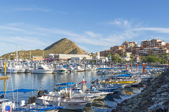 Cabo San Lucas Marina (aaronrhawkins) Tags: marina boat yacht fishing fisher desert cabosanlucas loscabos baja california mexico seaofcortez colorful sundown dusk sunset water calm bay dock vacation destination aaronhawkins sail sailboat