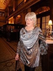 """The """"En Femme"""" Path I've Chosen (Laurette Victoria) Tags: dress blonde earrings necklace hotel laurette woman milwaukee pfisterhotel"""