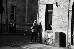 Waiting on the Corner (Bury Gardener) Tags: cambridgeshire cambridge england uk streetphotography street streetcandids snaps strangers candid candids people peoplewatching nikond7200 nikon bw blackandwhite britain mono monochrome 2018