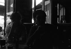 Mao & Samy (cestlameremichel) Tags: night party analog analogue analogica pellicule argentique 35mm bnw black white noir et blanc film minolta dynax 40 kodak tmax p3200 3200 iso monochrome manochromatic bordeaux ma ville