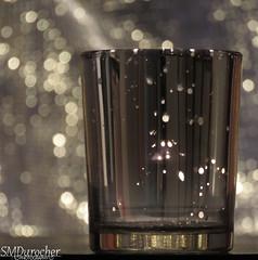20190119 SpeckledGlass Votive4 c (SMD Pics) Tags: macromondays speckledglass picktwo candle tealight glass candleholder