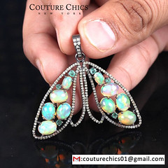 Opal Butterfly Pendant (couturechics.facebook1) Tags: diamond opal gemstone butterfly pendant solidsterlingsilver silverpendant fashion finependant