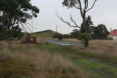 Remains of the original Princes Highway alignment north of the former level crossing at Corio (Marcus Wong from Geelong) Tags: princesfreeway princeshighway geelong melbourne road freeway motorway highway