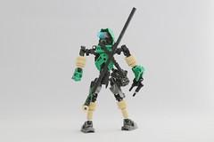 Jorwise (Ron Folkers) Tags: lego bionicle moc technic green black tan staff gunmetal explorer traveling