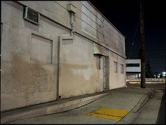 Side street (ADMurr) Tags: la eastside night hasselblad 500 cm 645 full frame kodak ektar dad737