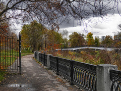 Autumn in Moscow (janepesle) Tags: autumn fall nature architecture park embankment river city moscow foliage travel tree sky outdoors urban bridge москва ростокино пейзаж cityscape