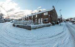 Sacriston Snow. . . (CWhatPhotos) Tags: cwhatphotos olympus omd micro four thirds 43 digital camera photographs photograph pics pictures pic picture image images foto fotos photography photo tint artistic that have which with contain art em5 mk ll mark 2 light shadow shadows snow winter heavy lying white stuff 2019 february feb sacriston north east england county durham time cold mzuiko 8mm fisheye fish eye prime lens flickr