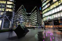 'More London Riverside', London, England (Aethelweard) Tags: london england unitedkingdom gb shard nightshot night building timeexposure