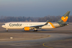 Condor - Boeing 767-3Q8ER/W D-ABUO @ Munich (Shaun Grist) Tags: dabuo tcx thomascook boeing 767 shaungrist muc eddm munich germany airport aircraft aviation aeroplanes airline avgeek sunrise condor