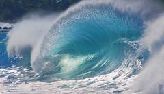washing waves (bluewavechris) Tags: maui hawaii ocean water sea swell surf wave spray backwash lip barrel highsurfwarning