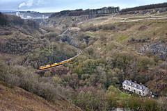 Top Banana (whosoever2) Tags: uk united kingdom gb great britain england nikon d7100 train railway railroad december 2018 topleypike buxton derbyshire tunstead quarry highpeak peakdistrict networkrail class73 1q41