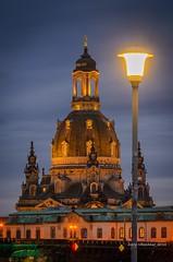 light (Dresdner Hobbyknipser) Tags: dresden frauenkirche saxony germany bluehour elbflorenz augustusbrücke