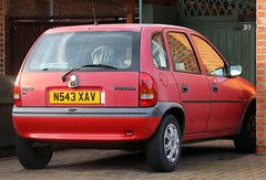 N543 XAV (Nivek.Old.Gold) Tags: 1996 vauxhall corsa 14 montana 5door mannegerton stives cambs