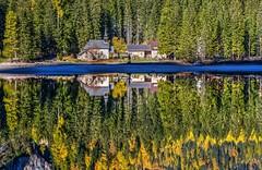 Un passo dal cielo (giannipiras555) Tags: lago riflessi chiesa alberi autunno natura paesaggio colori acqua spiaggia braies trentino travel nikon alba