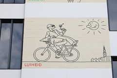 Luiheid (2017) (just.Luc) Tags: luiheid sloth bicycle fiets fahrrad bicyclette building gebouw gebäude bâtiment belgië belgien belgique belgium belgica antwerpen anvers antwerp antverpenas antuérpia amberes vlaanderen flandres flanders europa europe graffiti grafitti streetart urbanart
