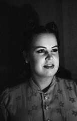 Old fashion portrait close up smile (Sonofsono) Tags: black bw white film fomapan graflex speedgraphic largeformat portrait