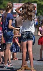 Watching (Scott 97006) Tags: girls female shorts backside audience