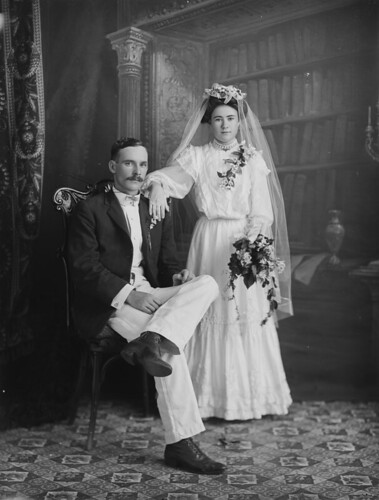 Unknown bride and groom