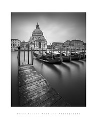 Venice...quattordici (LoneWolfA7ii) Tags: art architecture bw black blackandwhite city italy jetty gondola longexposure monochrome mono outdoors old sea venice white water church outside sky