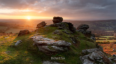 Last Resort (http://www.richardfoxphotography.com) Tags: tunhill rocks dartmoor moor moorland sunset sunstar sky clouds outside outdoors landscape devon rock granite tor