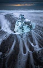 Blue Diamond (AlexKr81) Tags: iceland seascape icebeach diamondbeach sunset