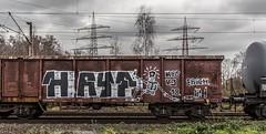 11_2019_01_16_Gelsenkirchen_Bismarck_1261_025_DB_mit_Übergabezug ➡️ Gelsenkirchen_Bismarck (ruhrpott.sprinter) Tags: ruhrpott sprinter deutschland germany allmangne nrw ruhrgebiet gelsenkirchen lokomotive locomotives eisenbahn railroad rail zug train reisezug passenger güter cargo freight fret bismarck bottropsüd ctd captrain db hctor hhpi 0632 1266 1232 1261 6152 6185 6187 6241 class66 vtgch rb42 hochspannungsmast kraftwerk herne dorsten dortmund logo natur outdoor graffiti