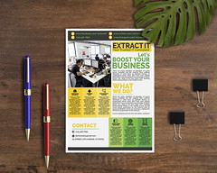 IT FARM MOCKUP (ismailrajib) Tags: mockup flyer adobe photoshop illustrator cheap affordable graphcis design it consultancy