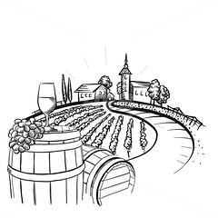 Vineyard barrel and glass drawing (Hebstreits) Tags: alcohol art background barrel black border bottle branch bunch design drawing drawn drink element engraving france glass grape grapes grapevine graphic hand harvest illustration ink isolated italian italy label life nature old plant product restaurant retro set sketch still style template vector vine vineyard vintage white wine winery wood wreath