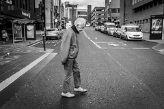 Cross With Care (Leanne Boulton) Tags: urban street candid portrait streetphotography candidstreetphotography candidportrait streetlife urbanlandscape sociallandscape old elderly man male walking walk frail careful crossing fragile age tone texture detail depth naturallight outdoor light shade city scene human life living humanity society culture lifestyle people canon canon5dmkiii ef2470mmf28liiusm black white blackwhite bw mono blackandwhite monochrome glasgow scotland uk
