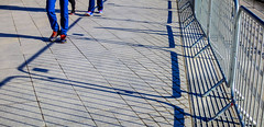 BRYAN_20181030_IMG_0366 (stephenbryan825) Tags: liverpool mannisland merseyside angles backlighting barriers dramaticlight floor graphic ground intothelight lines pavement people selects shadows