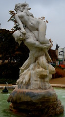 Man carries woman (Phil*ippe) Tags: statue woman erotic naked young man strong water sensual