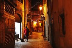 1I9A0952 (PCJ600) Tags: france street chambery night people dog pet light europe 法國 巷弄 街道 人 狗 夜晚 暖色調