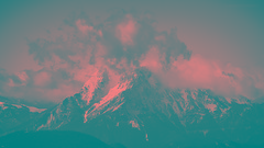 "Nature in b&w. ""EL PEDRAFORCA"". (Jesús Puigmartí) Tags: catalonia catalunya barcelona berguedà pedraforca mountain snow winter landscape nikon nikkor scenery clouds blancinegre blackandwhite bandw bw blancoynegro"